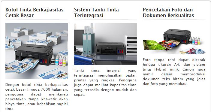Printer CanonPIXMA G1000 Baru
