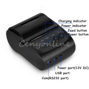 Mini Wireless 58mm Portable Bluetooth Thermal Printer Receipt for Android Mobile
