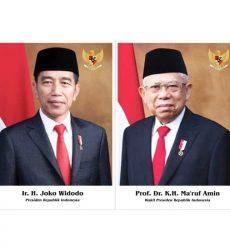 Foto Presiden dan Wakil Presiden 2019-2024