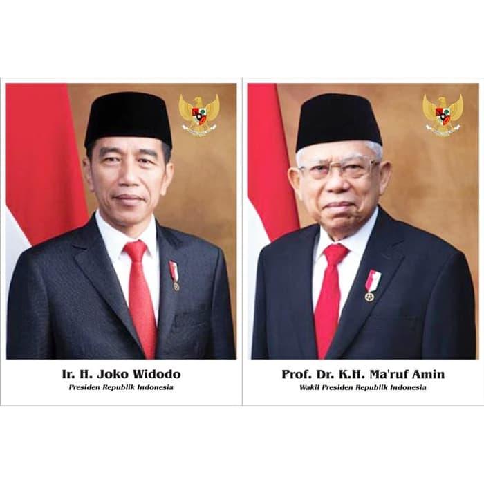 Foto Presiden Dan Wakil Presiden 2019 2024 Primajaya Stationery Grosir Alat Tulis Kantor Murah Atk Murah Di Bogor