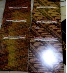 Map upacara batik plus isian teks UUD'45 & Pancasila